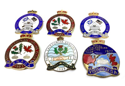 Lot 1848 - A COLLECTION OF ROYAL CALEDONIAN CURLING CLUB BADGES AND ANNUALS
