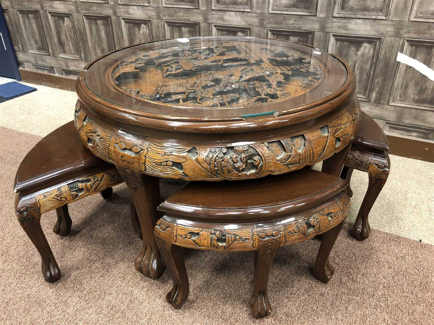 Lot 1029-A EARLY 20TH CENTURY CHINESE NEST OF TABLES