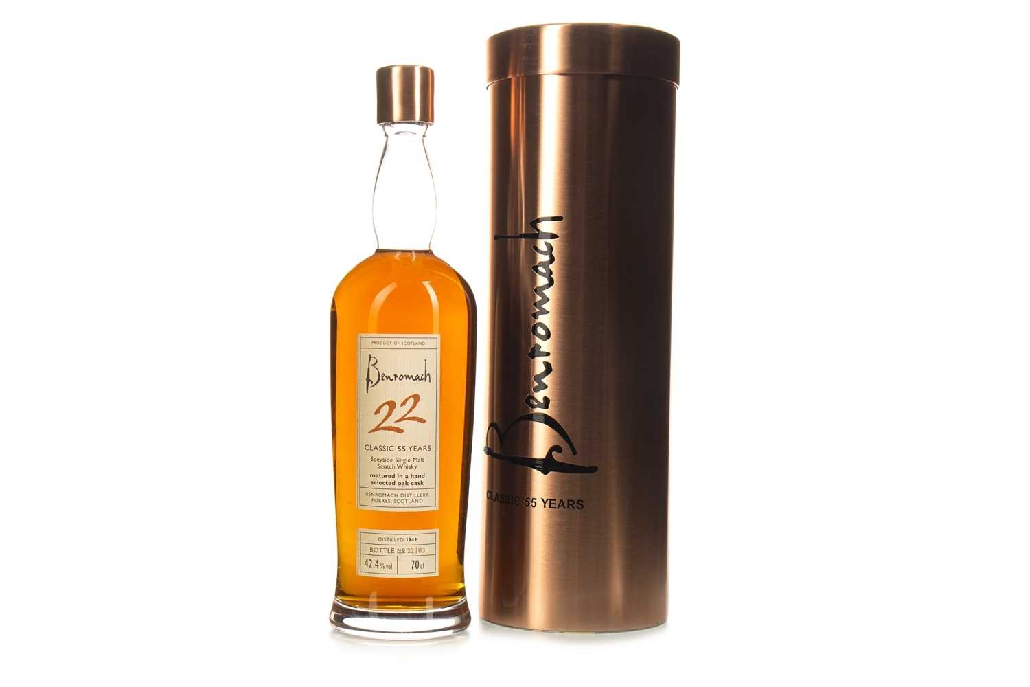 Lot 58-BENROMACH 1949 AGED 55 YEARS