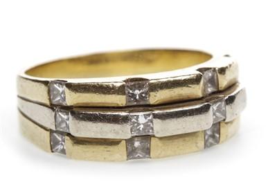 Lot 17-A BI COLOUR DIAMOND DRESS RING