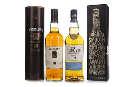 Lot 343-ABERLOUR 10 YEARS OLD & GLENLIVET FOUNDERS RESERVE