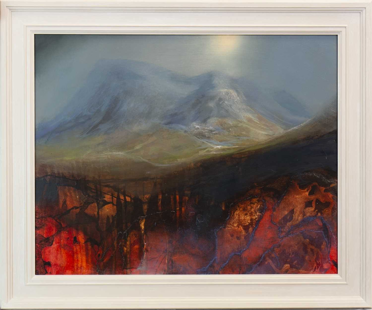 Lot 509-BUACHAILLE ETIVE MORE, A MIXED MEDIA BY BETH ROBERTSON FIDDES