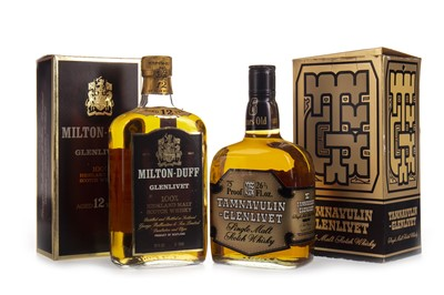 Lot 350-MILTONDUFF-GLENLIVET AGED 12 YEARS AND TAMNAVULIN-GLELIVET 8 YEARS OLD