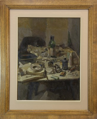 Lot 504-STILL LIFE, AN OIL