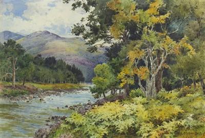 Lot 463-THE DEE NEAR DANZIG BRIDGE, A WATERCOLOUR BY BENJAMIN JOHN OTTWELL