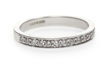 Lot 11-A DIAMOND HALF ETERNITY RING