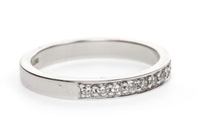Lot 11-A DIAMOND HALF ETERNITY RING