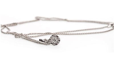 Lot 5-A DIAMOND PENDANT ON CHAIN
