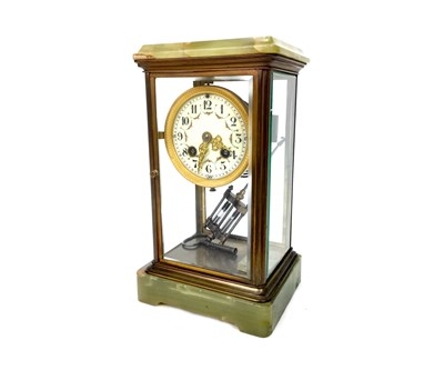 Lot 1383-AN EARLY 20TH CENTURY MANTEL CLOCK