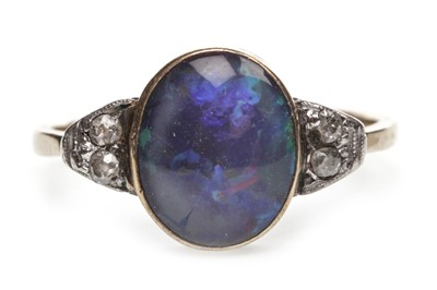 Lot 31-AN OPAL AND DIAMOND RING
