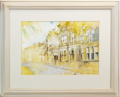 Lot 557-WESTBOUNRE GARDENS, A WATERCOLOUR BY KENNETH A BURNS