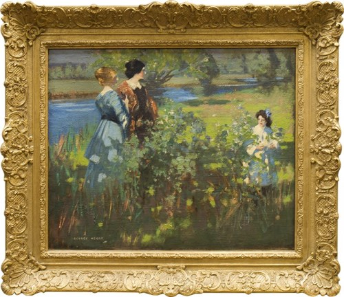 Lot 1323-GEORGE HENRY (SCOTTISH 1858 - 1943), AN...
