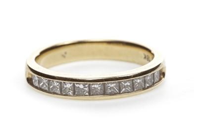 Lot 12-A DIAMOND HALF ETERNITY RING
