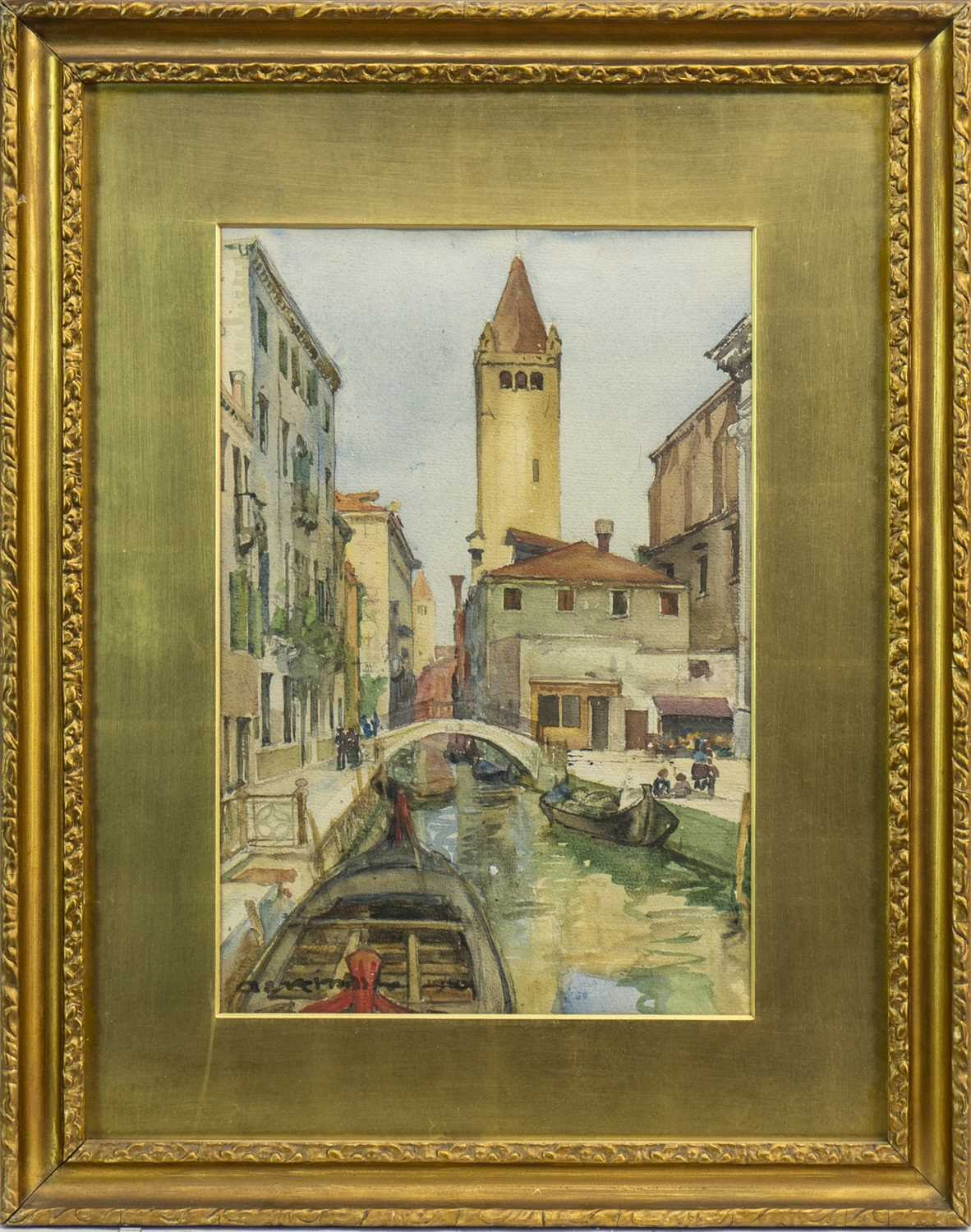 Lot 444-VENICE, A WATERCOLOUR BY ARCHIBALD ELLIOT HASWELL MILLER