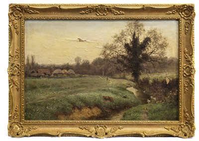 Lot 467-LANDSCAPE, AN OIL BY GEORGE GIBBS