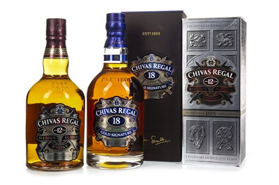Lot 430-CHIVAS REGAL 18 AND 12 YEARS OLD