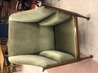 Lot 817-AN ARTS & CRAFTS ARMCHAIR IN THE MANNER OF J. S. HENRY