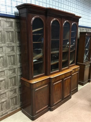 Lot 816-A VICTORIAN BREAKFRONT BOOKCASE