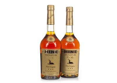 Lot 1022-TWO BOTTLES OF HINE SIGNATURE