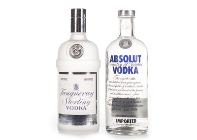Lot 1024-TANQUERAY STERLING AND ABSOLUT VODKA