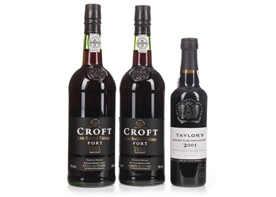 Lot 1026-TWO BOTTLES OF CROFT 1991 LBV AND ONE HALF BOTTLE OF TAYLOR'S 2001 LBV