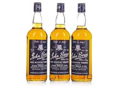 Lot 431-THREE BOTTLES OF JOHN BEGG BLUE CAP