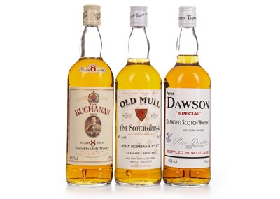 Lot 433-OLD MULL, PETER DAWSON SPECIAL AND THE BUCHANAN BLEND
