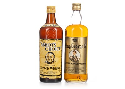 Lot 434-ABBOT'S CHOICE AND KING GEORGE IV BLEND