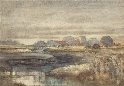 Lot 469-THE SILENT RIVER, A WATERCOLOUR BY CHARLES JOHN COLLINGS