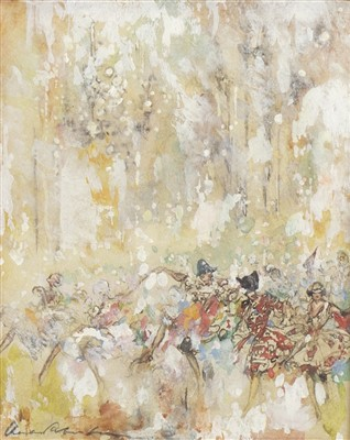 Lot 472-FETE CHAMPETRE, A WATERCOLOUR BY CHARLES ROBINSON