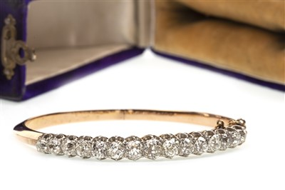 Lot 10-A VERY IMPRESSIVE OLD CUT DIAMOND BANGLE