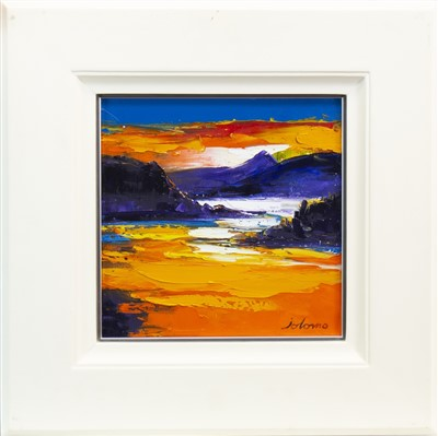 Lot 510-SUNSET, LOCH FEOCHAN, AN OIL BY JOLOMO