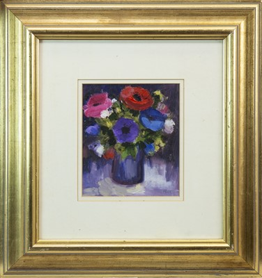 Lot 535-A PAIR OF FLORAL STILL LIFES, BY MARGARET DUFF