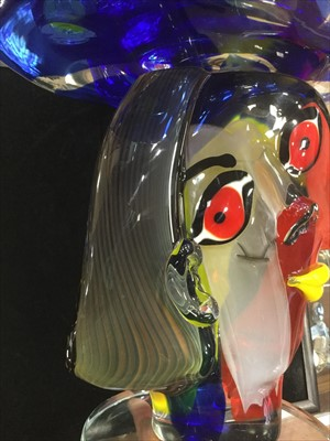 Lot 1212-'OMAGGIO A PICASSO', A MURANO GLASS SCULPTURE BY WALTER FURLAN