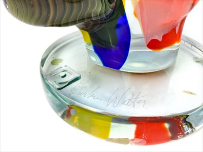 Lot 1212 - 'OMAGGIO A PICASSO', A MURANO GLASS SCULPTURE BY WALTER FURLAN