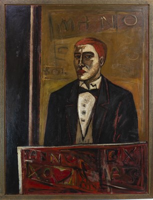 Lot 513-PORTRAIT OF AN ANONYMOUS PAINTER, AN OIL BY STUART MACKENZIE