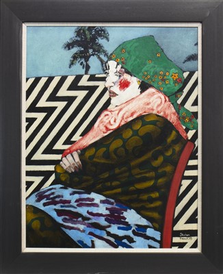 Lot 516-HARLEQUIN, AN OIL BY STEPHEN FRENCH