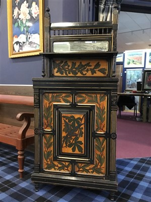 Lot 819-A VICTORIAN EBONISED CABINET IN THE MANNER OF J. BRUCE TALBERT