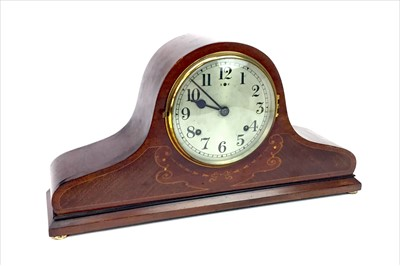 Lot 1102-AN EDWARDIAN MAHOGANY MANTEL CLOCK