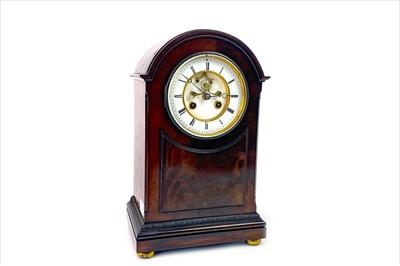 Lot 1103-A VICTORIAN MAHOGANY MANTEL CLOCK