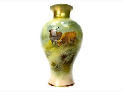 Lot 1221-A ROYAL WORCESTER VASE