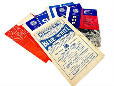 Lot 1707-A MANCHESTER CITY F.C. BLUE AND WHITE OFFICIAL PROGRAMME AND OTHER FOOTBALL PROGRAMMES