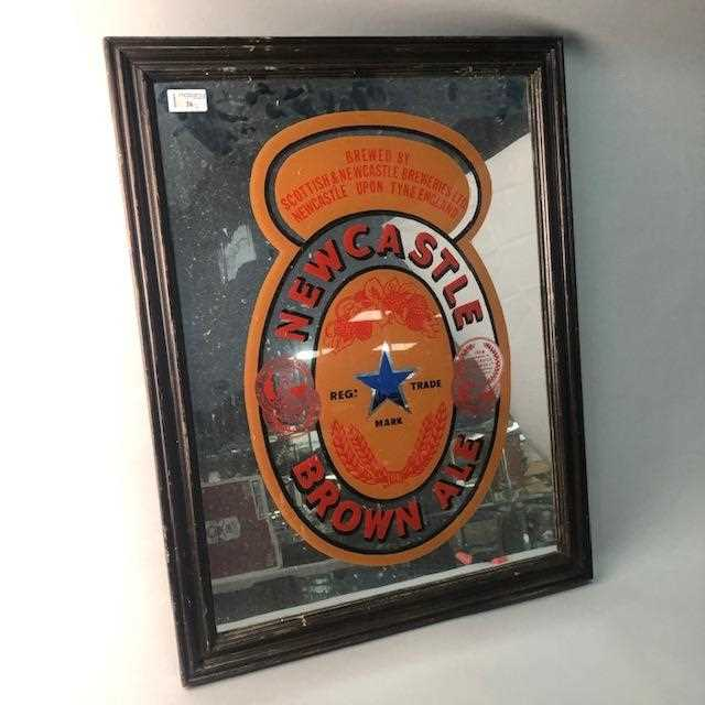 Lot 26-A NEWCASTLE BROWN ALE MIRROR AND ANOTHER MIRROR