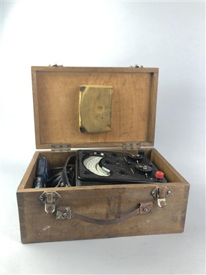 Lot 30-A UNIVERSAL AVOMETER ALONG WITH A SHELL FUEL CAN