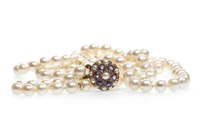 Lot 53-A TWO STRANDED PEARL NECKLACE