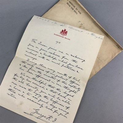 Lot 18-A WWI PRISONER OF WAR WELCOME HOME LETTER