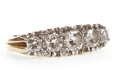 Lot 58-A VICTORIAN STYLE DIAMOND FIVE STONE RING