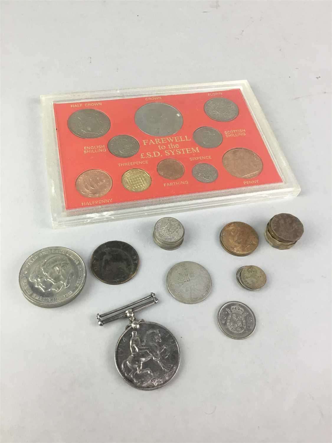 Lot 19-A LOT OF COINS AND A MEDAL
