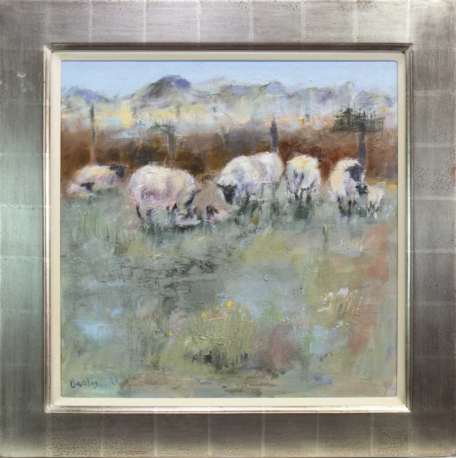 Lot 580-WONDERFUL AND WOOLLY, AN OIL BY MURIEL BARCLAY