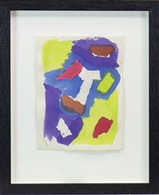 Lot 582-AN ABSTRACT WATERCOLOUR, ATTRIBUTED TO JOHN HOYLAND
